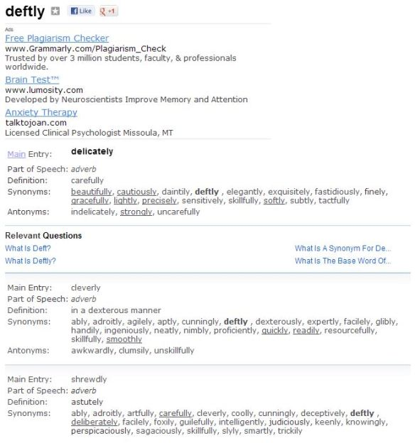 Improved functionality at Thesaurus com makes finding your